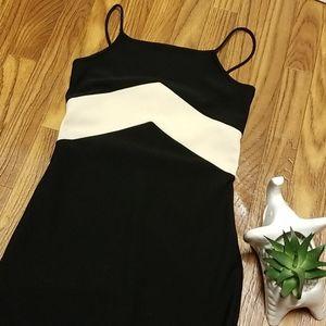 Vintage high neck midi dress with slit